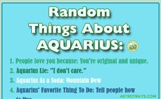 Random Things About Aquarius Zodiac Sign