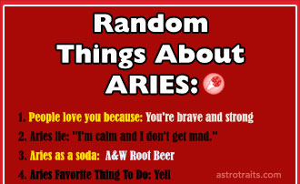 Random Things About Aries Zodiac Sign