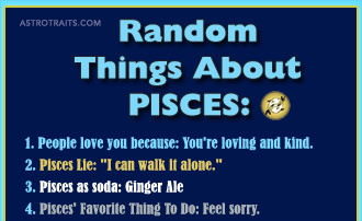 Random Things About Pisces Zodiac Sign