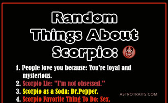 Random Things About Scorpio Zodiac Sign