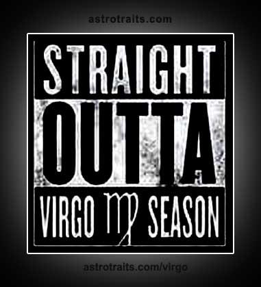 Straight outta virgo season meme