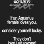 aquarius female love