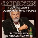 capricorn meme - i dont always