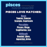 pisces love matches