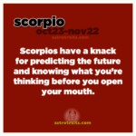 scorpios can predict the future