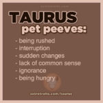 Taurus Pet Peeves