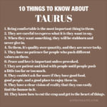 Things to Know About Taurus