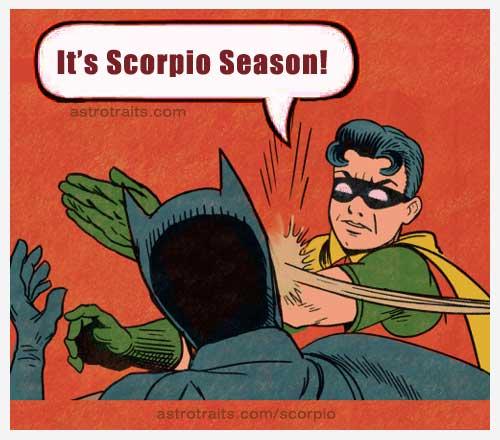 Robin slap batman scorpio season meme