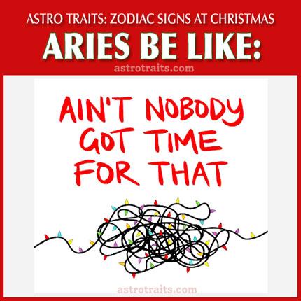 christmas meme zodiac sign aries