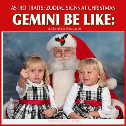 christmas meme zodiac sign gemini