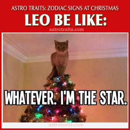 christmas meme zodiac sign leo