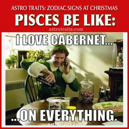 christmas meme zodiac sign pisces