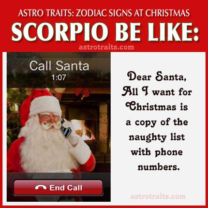 christmas meme zodiac sign scorpio