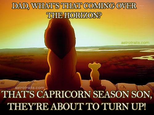 Capricorn Season horizon