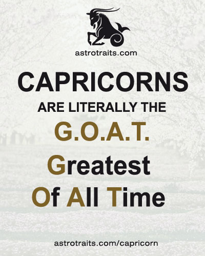 capricorns are literally the goat