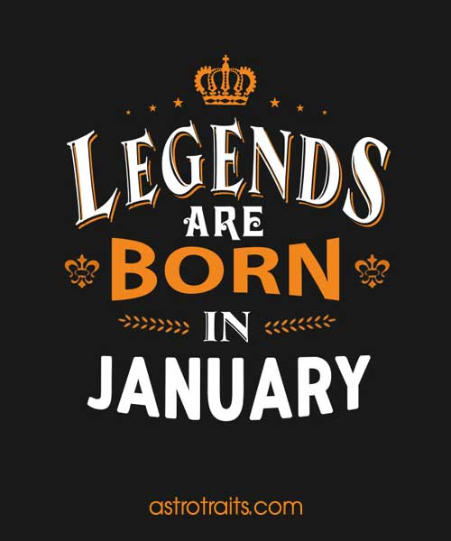 legends are born in january meme