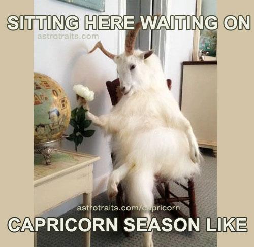 sitting here waiting for capricorn season like