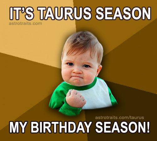 taurus baby meme