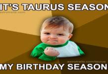 taurus season memes