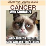 Cancer Astro Meme - Grumpy Cat