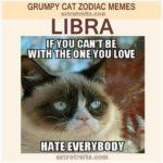 Libra Zodiac Sign Meme - Grumpy Cat