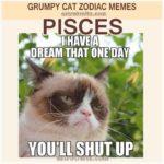 Pisces Zodiac Sign Meme - Grumpy Cat