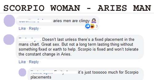 First aries love at sight woman man scorpio These 4